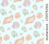 Seashells  Mollusks  Vector...
