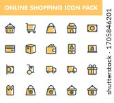 online shopping icon pack...