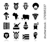african culture icons  | Shutterstock .eps vector #170585237