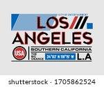 los angeles  california modern... | Shutterstock .eps vector #1705862524