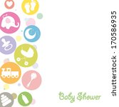 baby shower | Shutterstock .eps vector #170586935