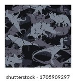 camouflage army pattern... | Shutterstock .eps vector #1705909297