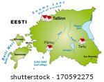 map of estonia as an... | Shutterstock . vector #170592275