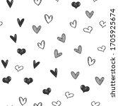 heart doodles seamless pattern. ...   Shutterstock .eps vector #1705925674