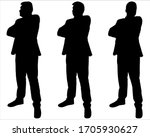 businessman in a suit is...   Shutterstock .eps vector #1705930627