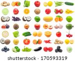 collection of various fruits... | Shutterstock . vector #170593319
