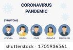 coronavirus pandemic covid 19... | Shutterstock .eps vector #1705936561