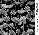 seamless pattern with pencil...   Shutterstock . vector #1705942201