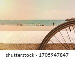 A Bicycle Parked On A Beach