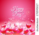 valentine's day greeting card... | Shutterstock .eps vector #170595017