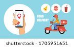 online food delivery service.... | Shutterstock .eps vector #1705951651