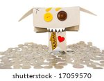 metal coins and cardboard... | Shutterstock . vector #17059570