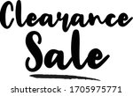 clearance sale calligraphy... | Shutterstock .eps vector #1705975771