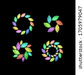 vector set of colorful jewelry... | Shutterstock .eps vector #1705979047