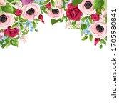 vector greeting or invitation... | Shutterstock .eps vector #1705980841