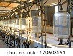 glass milk storage tank in a... | Shutterstock . vector #170603591