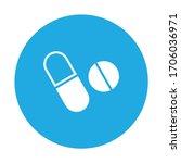 tablet  capsule  medicine icon... | Shutterstock .eps vector #1706036971