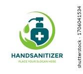 hand sanitizer vector logo... | Shutterstock .eps vector #1706041534