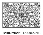 black and white decorative...   Shutterstock .eps vector #1706066641