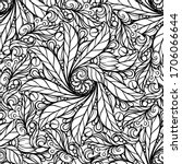 black and white abstract floral ...   Shutterstock .eps vector #1706066644