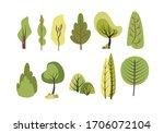 set of trees in vectors | Shutterstock .eps vector #1706072104