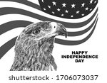 happy independence day usa... | Shutterstock .eps vector #1706073037