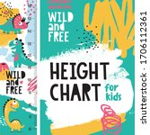 cute animal vector height chart ...   Shutterstock .eps vector #1706112361