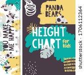cute animal vector height chart ... | Shutterstock .eps vector #1706112364