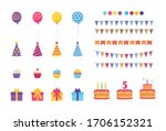 birthday elements set  birthday ...   Shutterstock .eps vector #1706152321