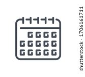 calendar line icon. planner and ...