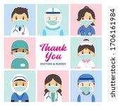 thank you frontline workers ...   Shutterstock .eps vector #1706161984