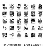set of education thin line and... | Shutterstock .eps vector #1706163094