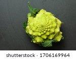 Bright Green Flower Head Of A...