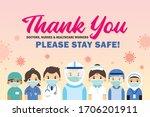 thank you frontline workers ...   Shutterstock .eps vector #1706201911