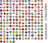 round flag icon set minimalist | Shutterstock .eps vector #1706215984
