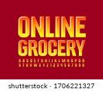 vector bright banner online... | Shutterstock .eps vector #1706221327