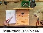 Build Birdhouse  Wood  Screws...