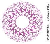 floral wreath border  vector... | Shutterstock .eps vector #1706231467