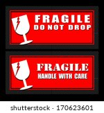 fragile sign | Shutterstock .eps vector #170623601