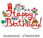 illustration of the invitation... | Shutterstock .eps vector #1706241544