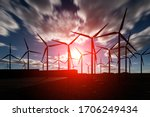 Offshore Wind Turbines Farm...