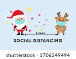 covid 19 and social distancing... | Shutterstock .eps vector #1706249494