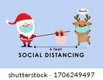 covid 19 and social distancing... | Shutterstock .eps vector #1706249497