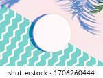 natural empty white cylinder... | Shutterstock . vector #1706260444