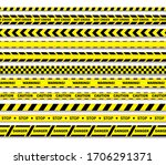 caution lines isolated. warning ... | Shutterstock .eps vector #1706291371