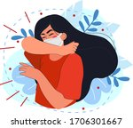virus protection  coughing and... | Shutterstock .eps vector #1706301667