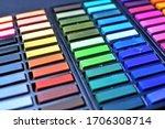 A Box Of Pastel Chalks   Many...