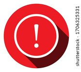 exclamation sign icon on circle ...   Shutterstock .eps vector #1706325331
