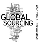 word cloud with global sourcing ... | Shutterstock . vector #170632925