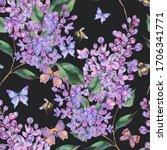 spring watercolor blooming...   Shutterstock . vector #1706341771
